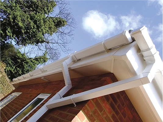 Aps Roofline 187 Square Line 114mm Gutter 65mm Downpipe