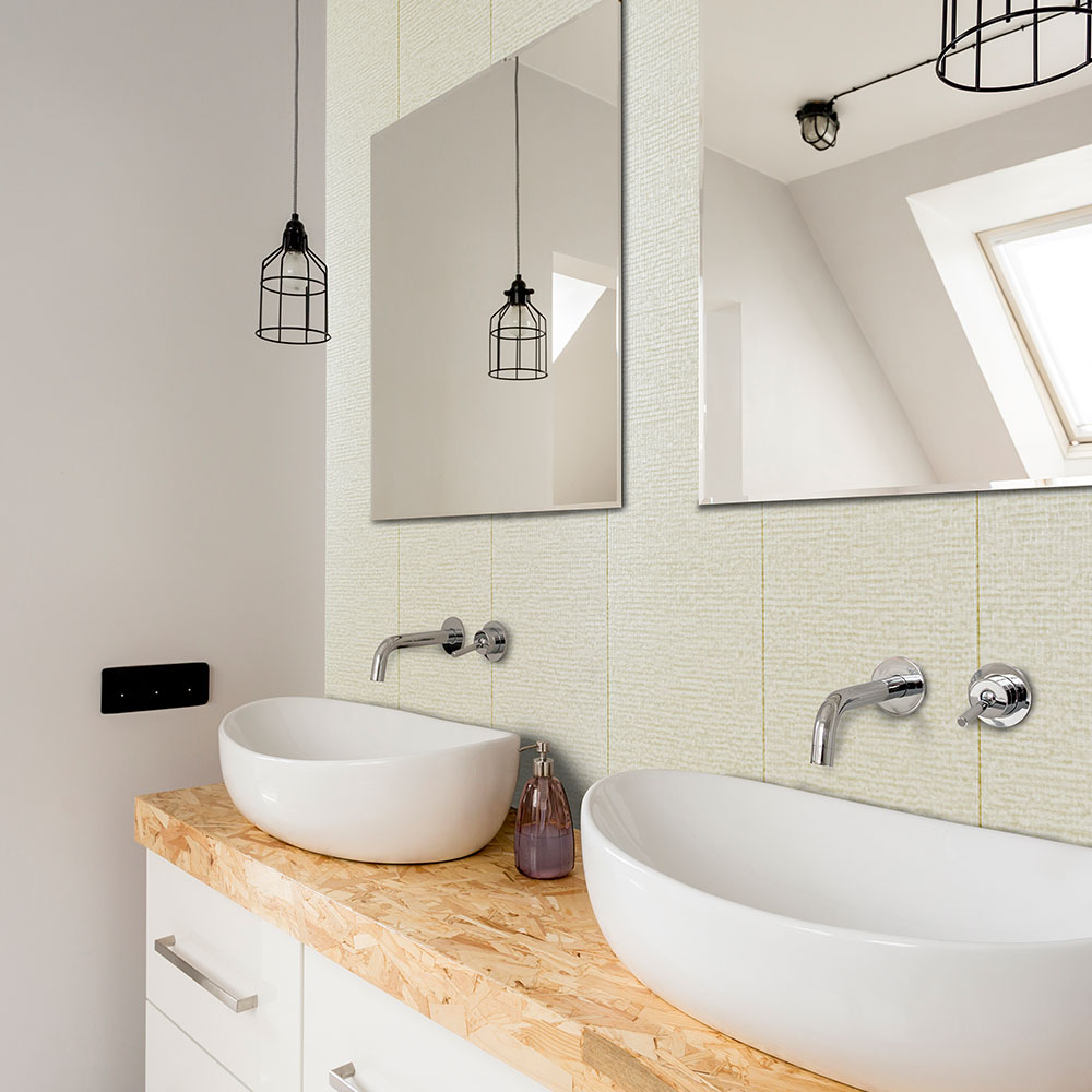 decorwall elegance pearl mosaic bathroom wall panel  aps
