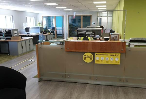 APS front desk COVID19 precautions